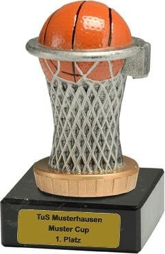 Trophäe Basketball, 50x100mm