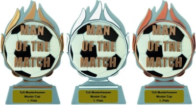 3er Serie MAN OF THE MATCH, Trophäen 15cm