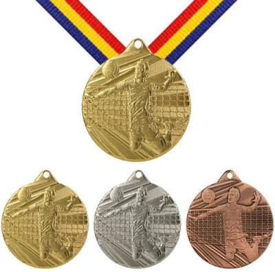 50 mm Volleyball Medaille