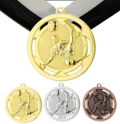 50 mm Fußball Medaille